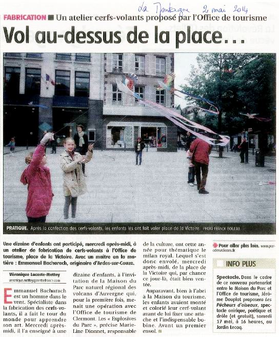 Article La Montagne du 2 Mai 2014
