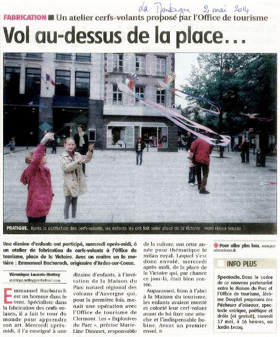 Article La Montagne du 2 Mai 2014